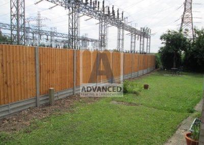 Concrete Posts, Gravelboard Tiber Panel Fence