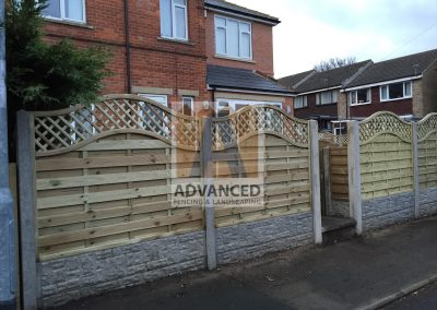 Concrete Posts, Gravelboard & Timber Panel Fencing