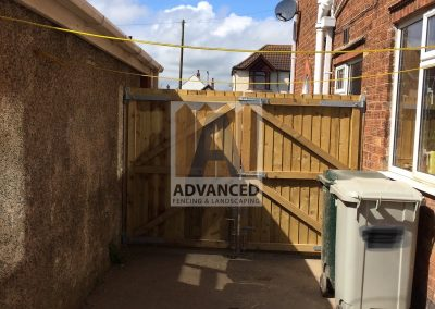 Timber Double Gates